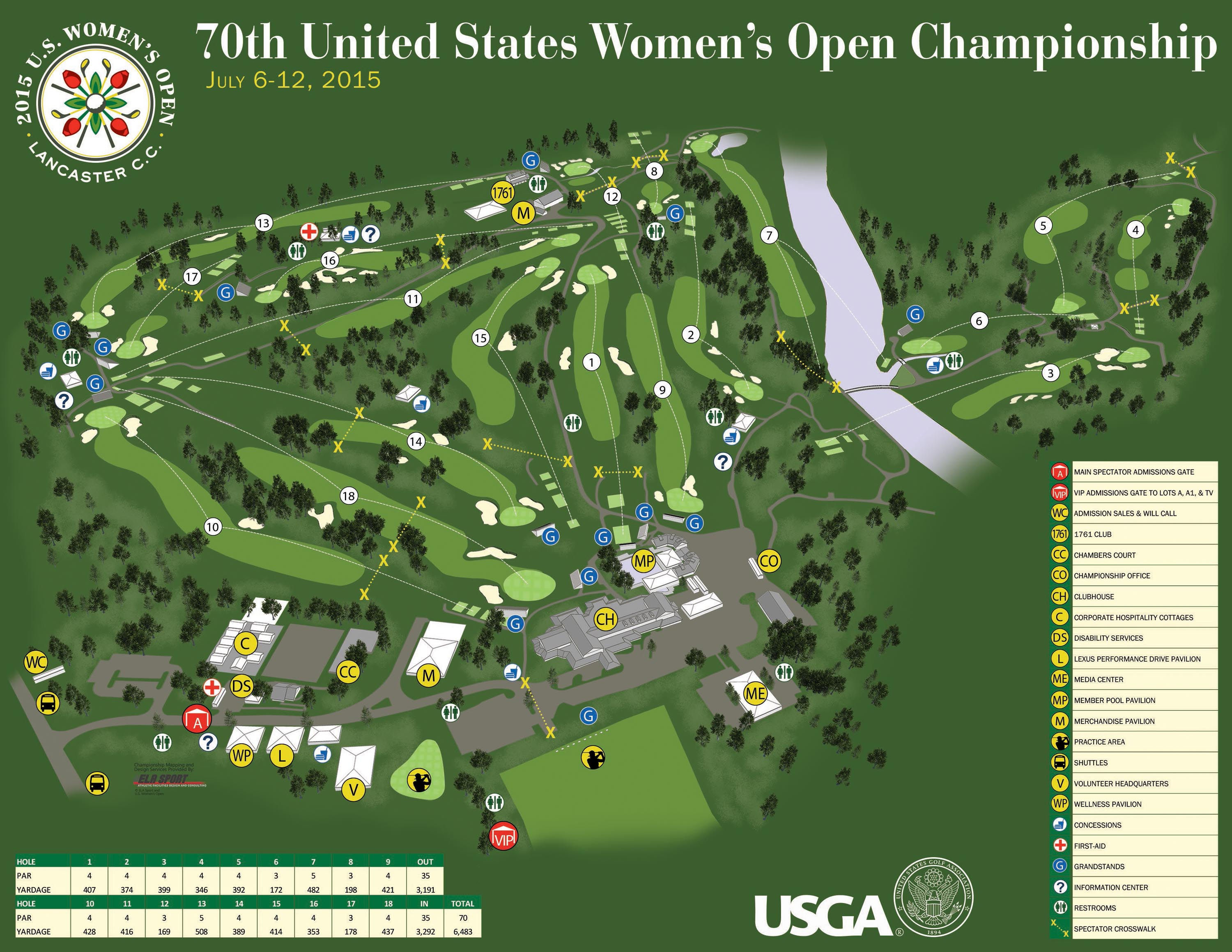 70 annual united states womens open championship map